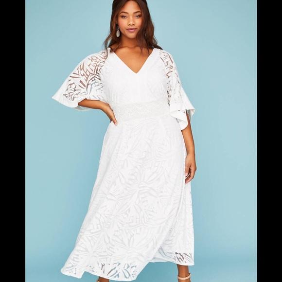 58722d32c Lane Bryant Dresses | Nwt White Maxi Dress With Kimono Sleeves ...